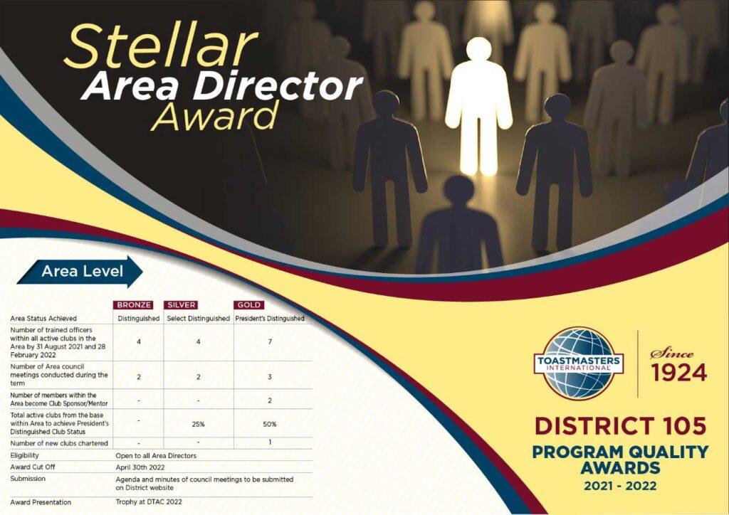 Stellar Area Director Award